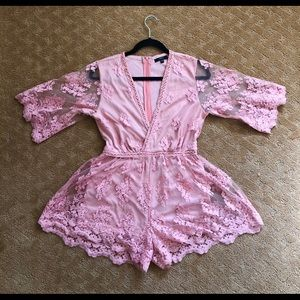 Lacy Floral Romper